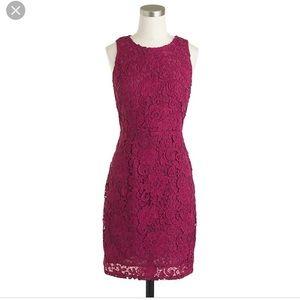 JCrew Sleeveless Floral Lace Sheath Dress